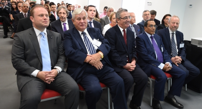 Joseph Muscat at the launch of the London School of Commerce college(Photo: Ray Attard)
