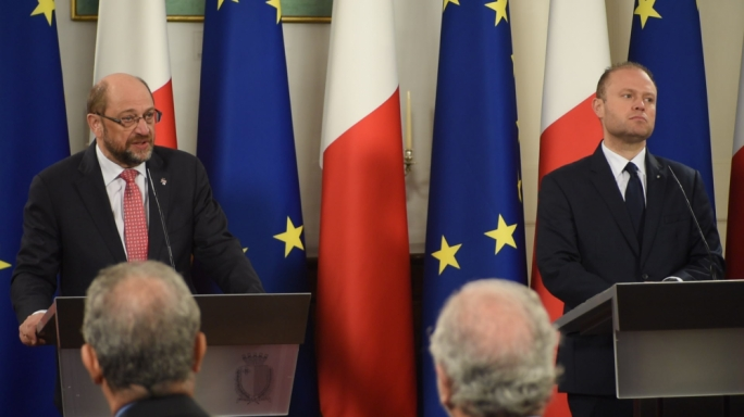 For Joseph Muscat, being anti-establishment means being pro-change; but for Martin Schulz, being part of the establishment is being part of democracy