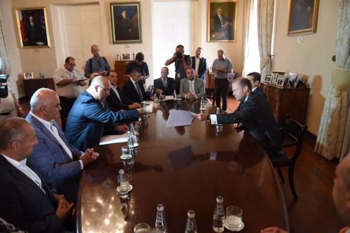 Prime Minister Joseph Muscat welcomed the Malta Developers Association at Auberge de Castille (Photo: James Bianchi/MediaToday)