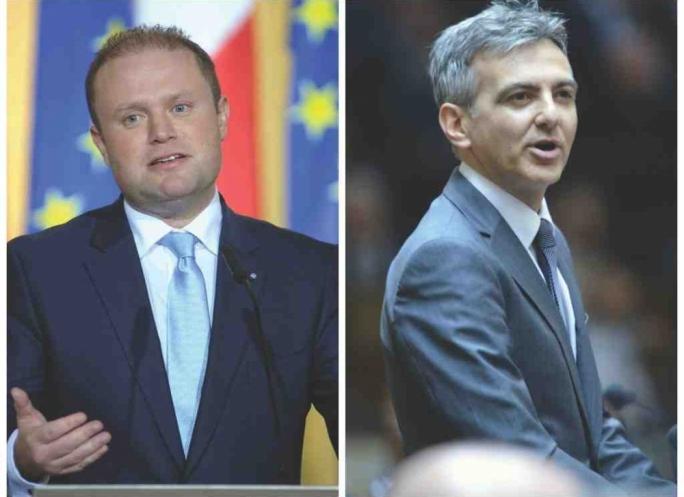 Prime Minister Joseph Muscat and Opposition leader Simon Busuttil