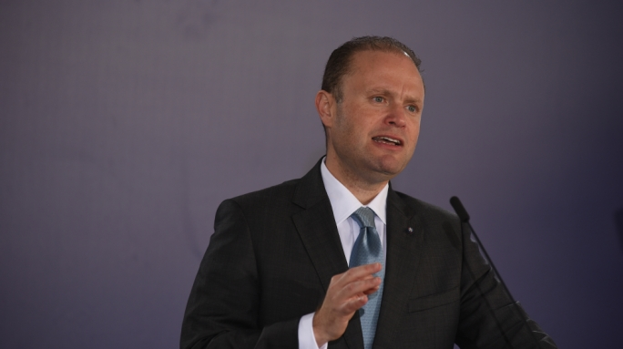 Labour leader Joseph Muscat addresses press conference in Marsa (Photo: Chris Mangion/MediaToday)