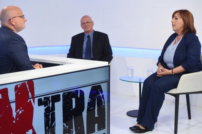 Media experts Gorg Mallia and Carmen Sammut on Xtra. Photo: James Bianchi