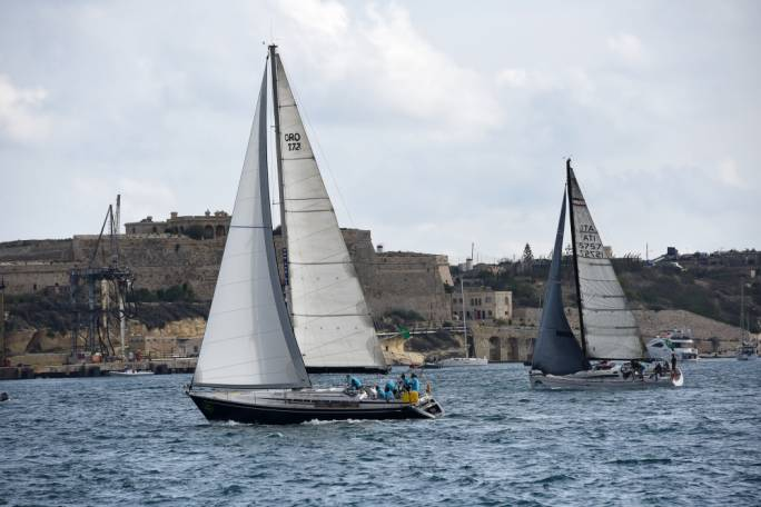 Grand Harbour was a beautiful backdrop to the start of the 2017 Rolex MiddleSea Race