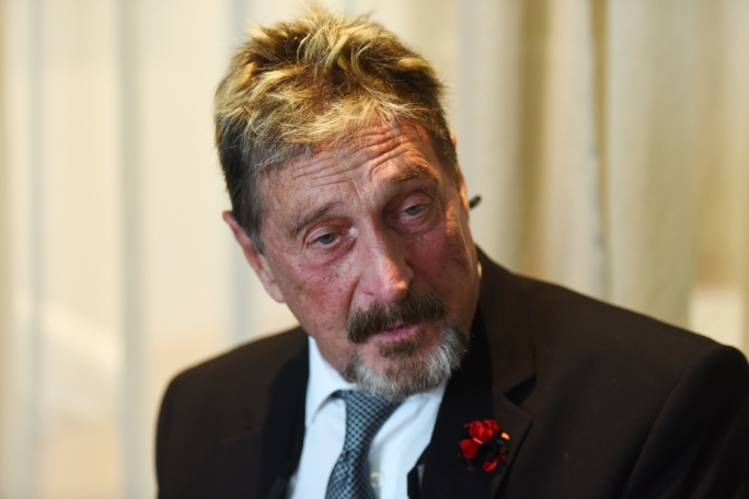 John McAfee (Photo: James Bianchi/MediaToday)