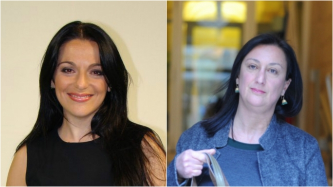 Julia Farrugia (L) and Daphne Caruana Galizia