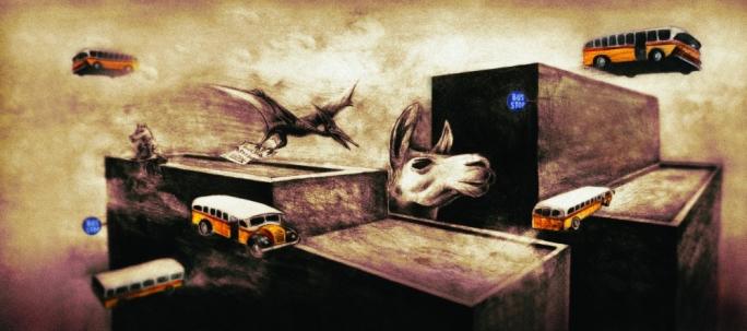 Move Back - Pencils and digital - 2010