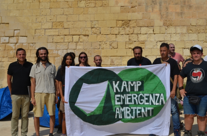 Taking matters in their own hands: Kamp Emergenza Ambjent challenged MIDI plc by forcibly gaining access to the Gzira foreshore that was blocked by the development at Fort Manoel