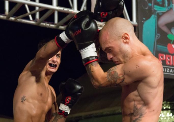 match Keith 'the Speed' Azzopardi, from Team Noel, won the semi-professional World Kickboxing Network's (WKN) World Title Belt