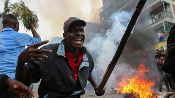 Violent protests break out in Kenya following election result