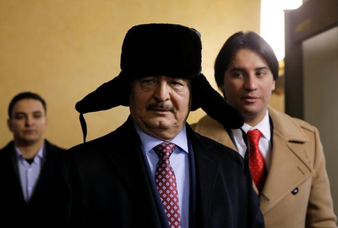 "Libyan general Khalifa Haftar claimed that Russian President Vladimir Putin promised to ""revoke"" the UN arms embargo"