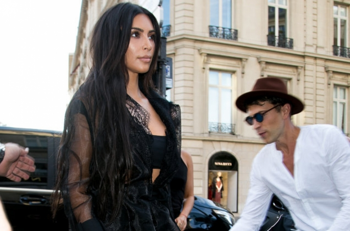 Kim Kardashian West was in Paris with her family to support her sister who was modelling in the event