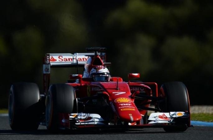 Kimi Raikkonen (FIN) Ferrari SF15-T at Formula One Testing, Day Four, Jerez, Spain