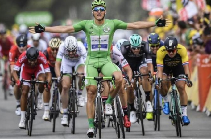 Marcel Kittel claimed his 13th all-time Tour de France stage win