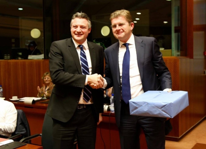 Slovak Minister Peter Ziga hands over the presidency of the Energy Council of Ministers to Minister Konrad Mizzi