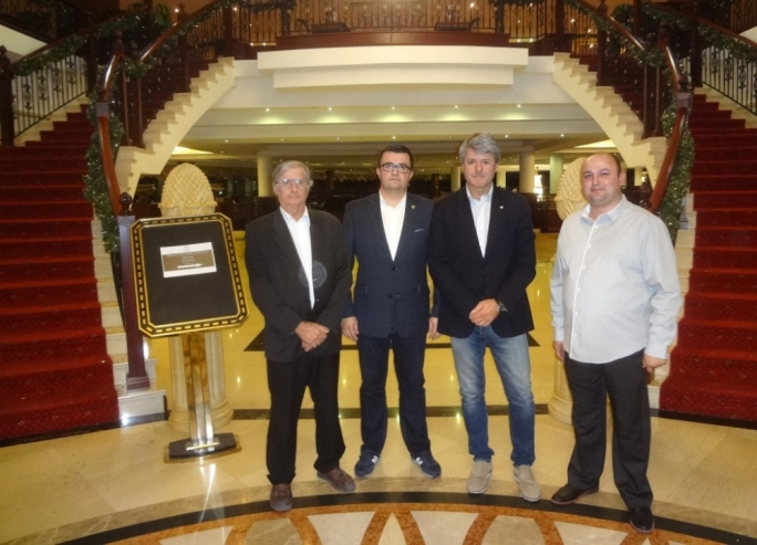 Officials of the European Federation FIM-E. Alessandro Sambuco Secretary General and Michal Sikora the Treasurer of 'FIM –Europe' together with ASMK President Frans Deguara and Secretary General Johann Pace