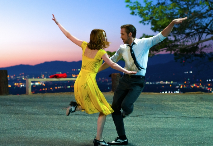 Tapping the night away: Emma Stone and Ryan Gosling are game leads in this award-courting musical drama from the director of Whiplash