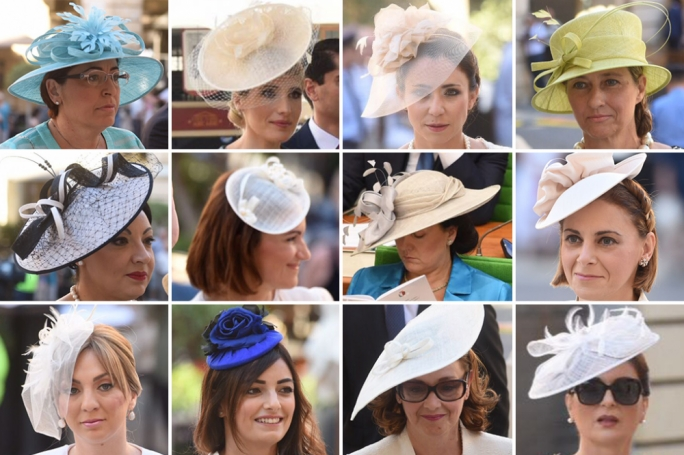 Hats to suit all tastes: The opening of Parliament was a veritable showcase of latest fashion in headwear (All photography: James Bianchi/MediaToday)