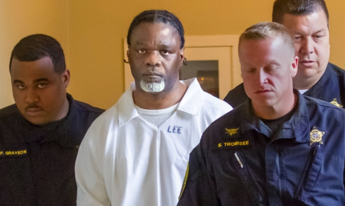 Ledell Lee appears in Pulaski county circuit court on Tuesday 18 April for a hearing in which lawyers argued to stop his execution