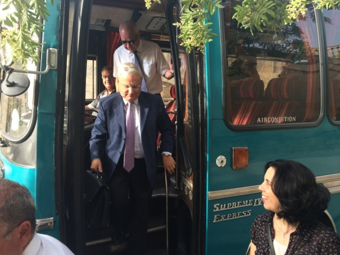 Environment Minister Leo Brincat ditches ministerial car and hops on coach to get to work