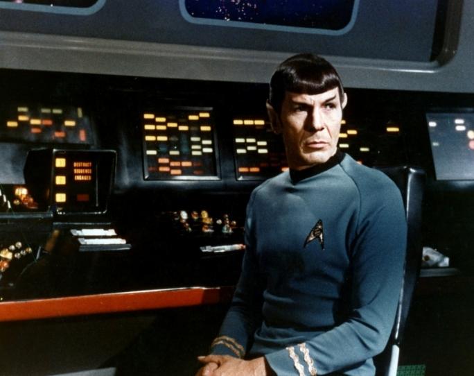 Leonard Nimoy as Star Trek's Mr. Spock