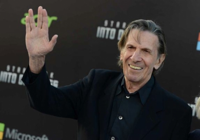 Leonard Nimoy arrives at the premiere of