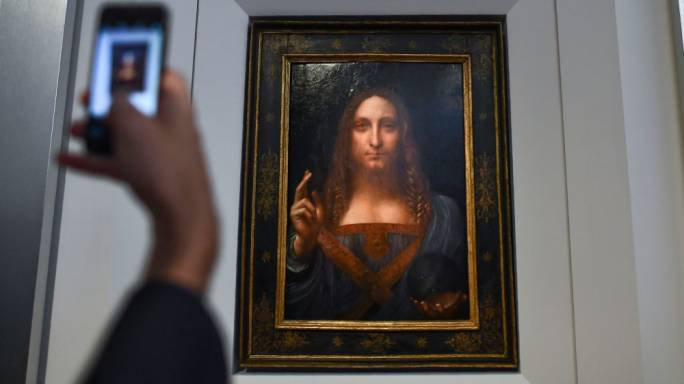 The painting, 'Salvator Mundi,' Italian for 'Savior of the World,' was sold Wednesday by Christie's auction house (Photo: Wilx)