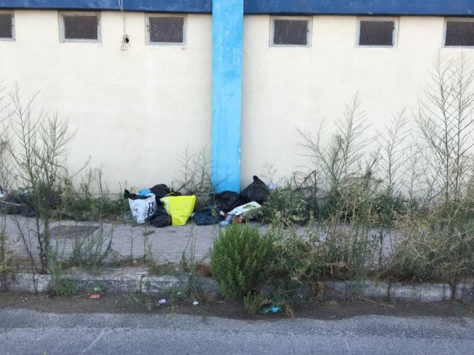 Rubbish left uncollected in Naxxar