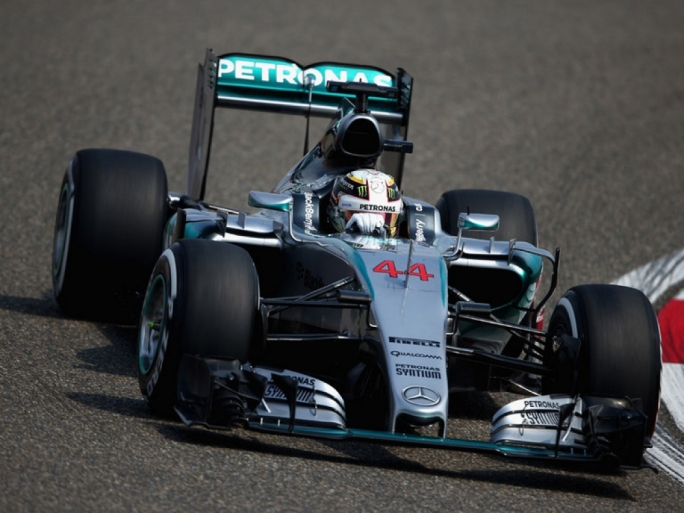 Lewis Hamilton was quickest in the first two practice sessions