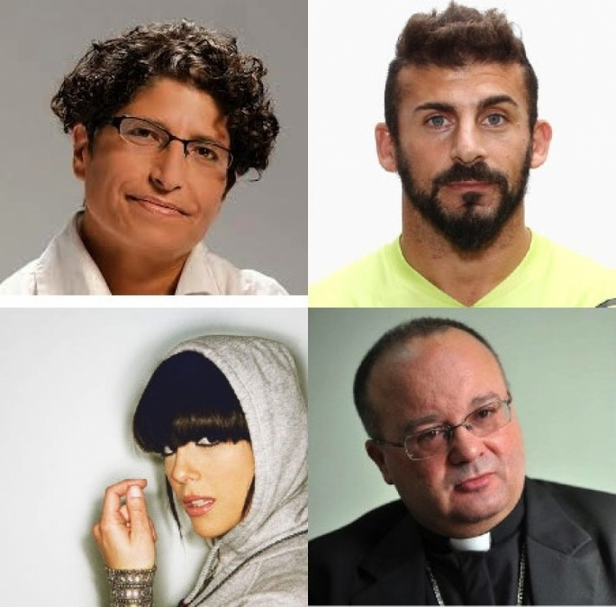 Clockwise from top left; Gabi Calleja, Luke Dimech, Charles Scicluna and Ira Losco