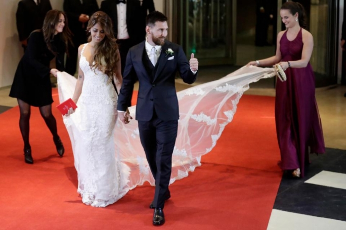 Lionel Messi and Antonella Roccuzzo got married at a luxury hotel in Rosario