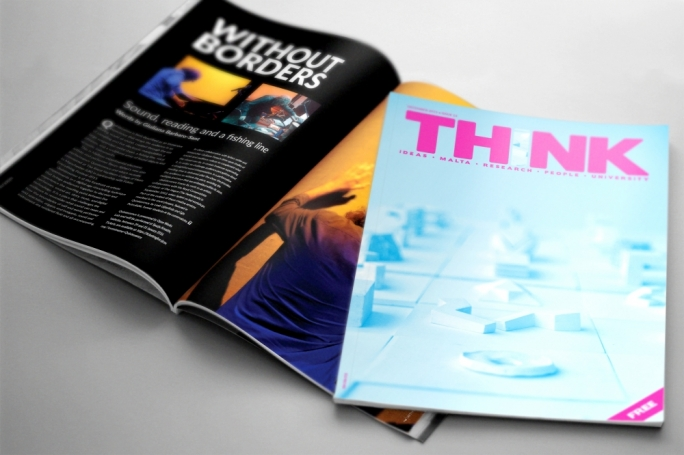 Think, the University of Malta's research magazine, may be picked up for free in newsagents around Malta and Gozo and in Agenda bookstores, it is now available online at http://www.um.edu.mt/think