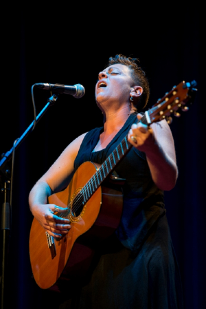 Maltese singer-songwriter Claire Tonna performing at a Tao Productions event