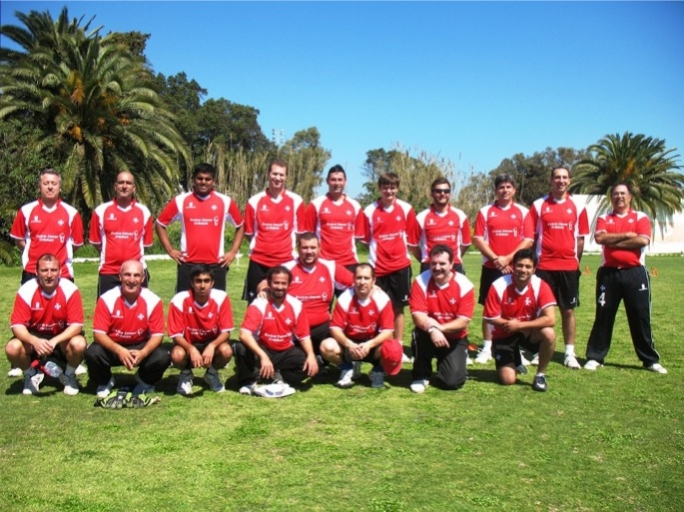 The Malta squad just before their first training session