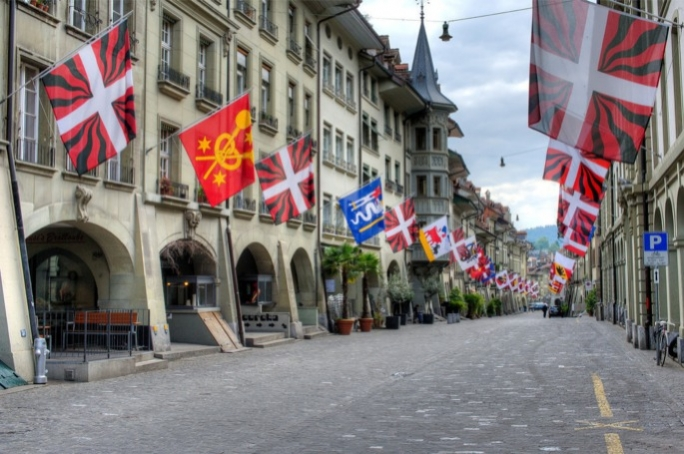 The old town in Berne, Switzerland.