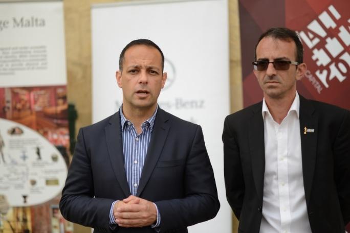 From left: Valletta 2018 Foundation Chariman Jason Micallef and Malta Fashion Week Executive Producer Adrian J. Mizzi