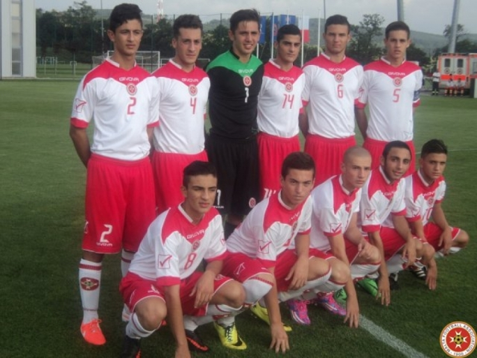 The Malta U-17 Side just before their match against Ireland