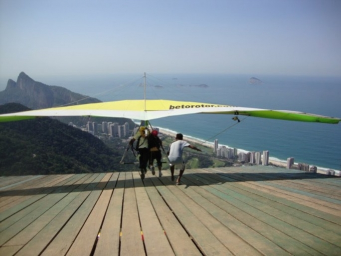 The jump site in San Coronado, Rio de Janeiro, Brazil where Tania Sultana took-off with her instructor