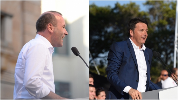 At il-Fosos, former Prime Ministers Matteo Renzi and Tony Blair sent messages of support while at the PN meeting, it was Manfred Weber President of the EPP group