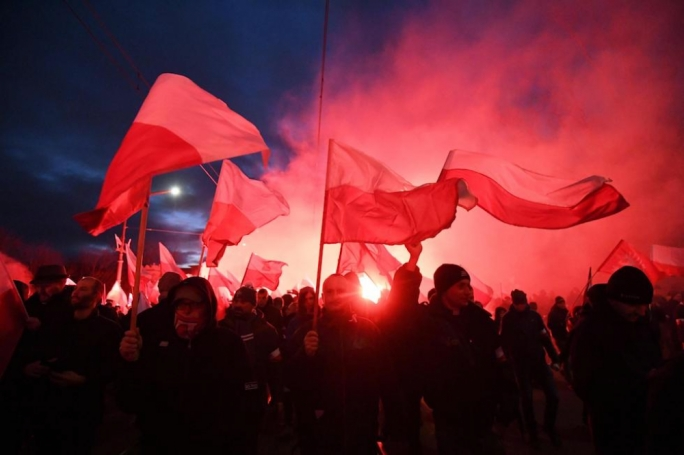 In 2017 a nationalist march and counter-protest took place in Warsaw