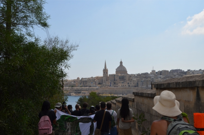The view of Valletta from Manoel Island