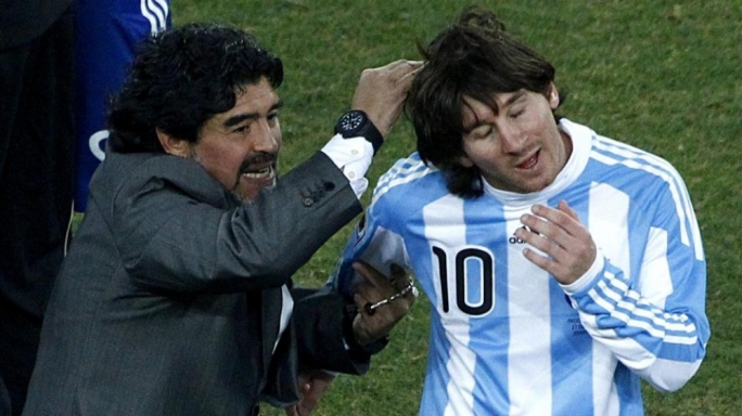 Messi was 'five times better' under me - Maradona