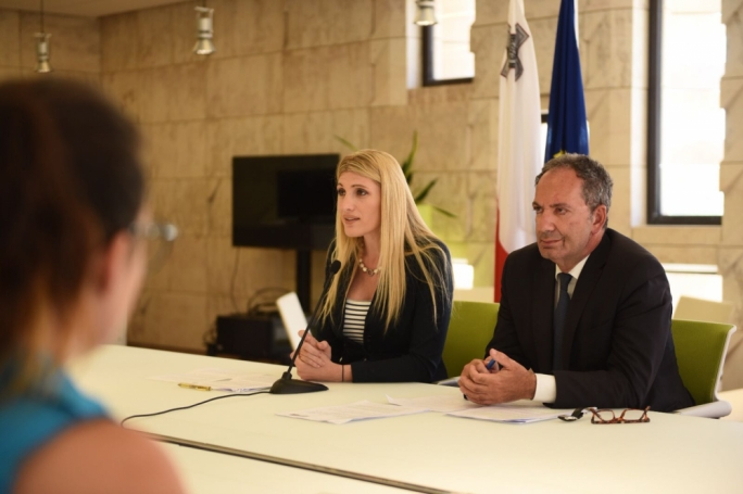 Opposition MPs Kristy Debono and Mario de Marco. (Photo: James Bianchi/MediaToday)