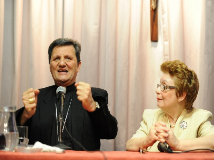 Mario Grech in 2011 addressing a Fgura parish meeting at the height of the divorce referendum. He once warned his flock of 'wolves in sheep's clothing' but his views on the Synod on the family, which he attended, have been given much importance in Vatican newspaper L'Osservatore Romano