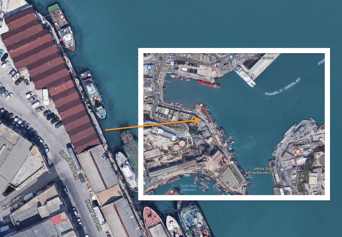 The potato sheds have direct access to the Grand Harbour