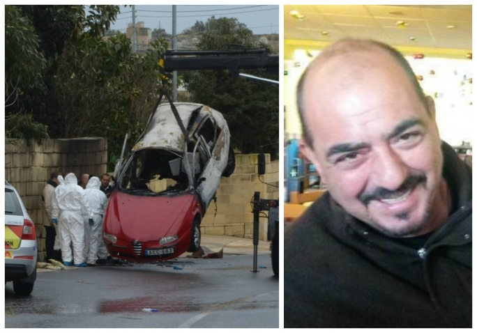 Martin Cachia died in a car bomb in january 2016