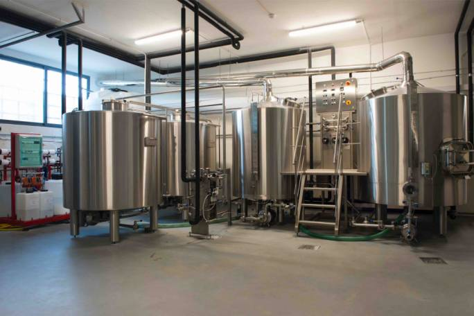 The brew house at Lord Chambray Brewery