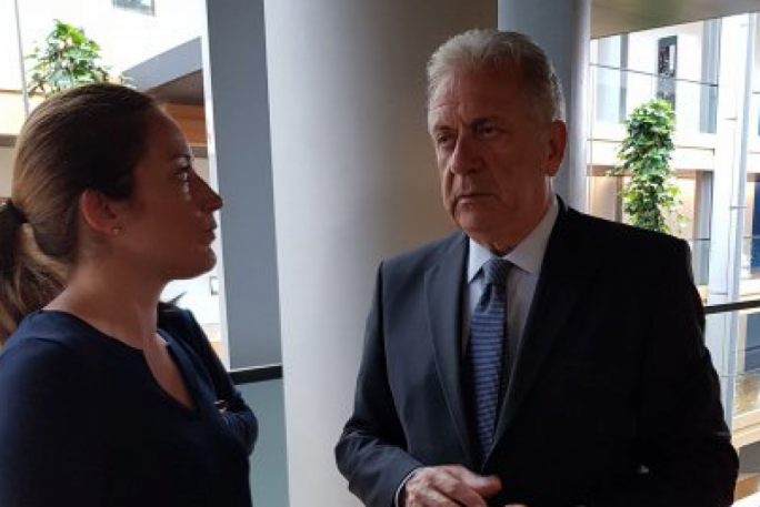 Metsola chaired a meeting with the European Parliament president, Bulgarian presidency and European Commissioner Avramopolous in wake of the Aquarius standoff in the Mediterranean