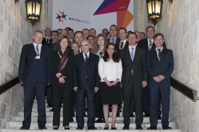 Foreign Minister George Vella with state secretaries and secretaries-general of EU member states
