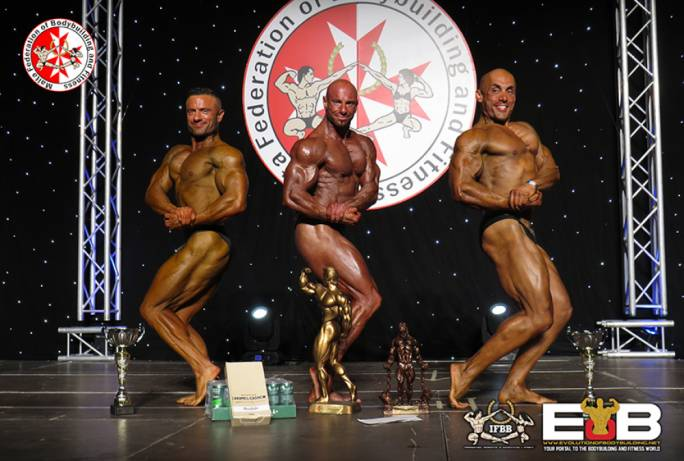 Top three overall- (L-R) second place Roderick Theuma, first place Carlos Caruana and third place Stephen Borg