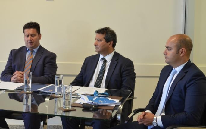 Tourism Minister Edward Zammit Lewis, MTA chairman Gavin Gulia and MIA CEO Alan Borg